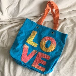 Old Navy LOVE ❤️ cotton fabric cloth tote bag